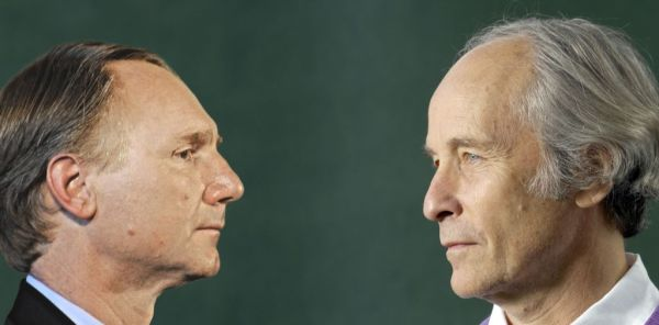 Dan Brown contro Richard Ford (fotomontaggio di Fabiano Albani).