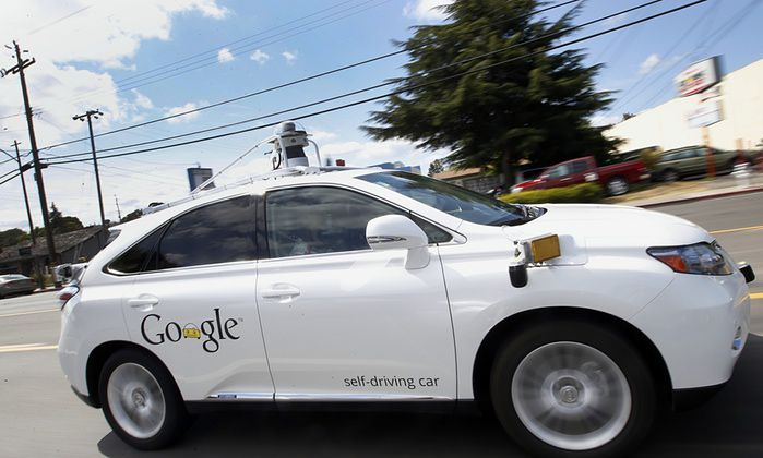 Un prototipo della Google Car.